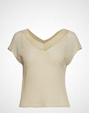 Mango Openwork Knit Top T-shirts & Tops Sleeveless Beige MANGO