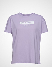 Superdry Premium Brand Classic Portland Tee T-shirts & Tops Short-sleeved Lilla SUPERDRY