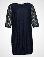 Zizzi Xaponi, 3/4, Lace Dress Knelang Kjole Blå ZIZZI