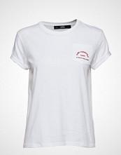 Karl Lagerfeld Rue Lagerfeld Pocket Tee T-shirts & Tops Short-sleeved Hvit KARL LAGERFELD