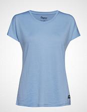 Bergans Oslo Wool W Tee T-shirts & Tops Short-sleeved Blå BERGANS