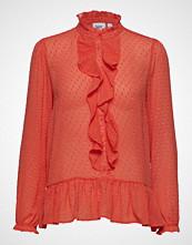 Saint Tropez Woven Shirt L/S Bluse Langermet Oransje SAINT TROPEZ