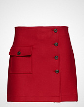 Hilfiger Collection Wool School Skort, 6 Kort Skjørt Rød HILFIGER COLLECTION