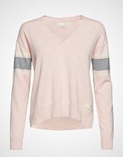 Odd Molly Borderlands V-Neck Sweater Strikket Genser Rosa ODD MOLLY