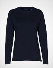Gant Cott/Ela C-Neck Ls T-Shirt T-shirts & Tops Long-sleeved Blå GANT