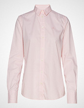 Gant The Broadcloth Gingham Shirt Langermet Skjorte Rosa GANT