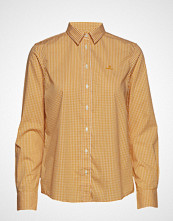 Gant The Broadcloth Gingham Shirt Langermet Skjorte Gul GANT