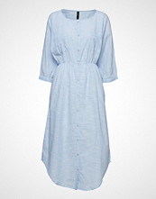 Yas Yasjamia Long Shirt Dress Knelang Kjole Blå YAS