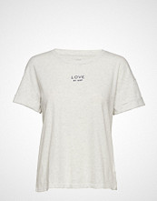GAP Forever Favorite Roll Sleeve Graphic T-Shirt T-shirts & Tops Short-sleeved Hvit GAP