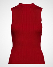 Mango Ribbed Top T-shirts & Tops Sleeveless Rød MANGO