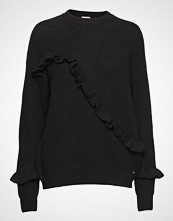Twist & Tango Sonja Frill Sweater Strikket Genser Svart TWIST & TANGO