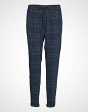 Esprit Casual Pants Knitted Bukser Med Rette Ben Blå ESPRIT CASUAL