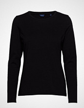 Gant Cott/Ela C-Neck Ls T-Shirt T-shirts & Tops Long-sleeved Svart GANT