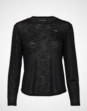 Röhnisch Sheer Long Sleeve Top T-shirts & Tops Long-sleeved Svart RÖHNISCH