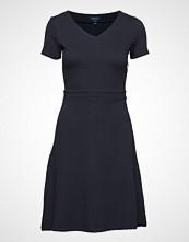 Gant O1. Textured Flared Dress Kort Kjole Blå GANT