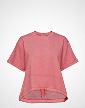 Mads Nørgaard Zigzag Jaquard Toffa T-shirts & Tops Short-sleeved Rosa MADS NØRGAARD