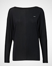 Röhnisch Drape Top T-shirts & Tops Long-sleeved Svart RÖHNISCH