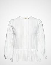 Mayla Stockholm Leah Embroidery Blouse Bluse Langermet Hvit MAYLA STOCKHOLM