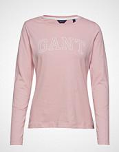 Gant Arch Logo Ls T-Shirt T-shirts & Tops Long-sleeved Rosa GANT