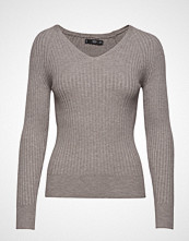 Mango Ribbed Knit Sweater Strikket Genser Grå MANGO