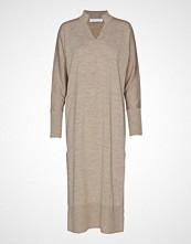 Cathrine Hammel Long Tunisian Sweater Knelang Kjole Beige CATHRINE HAMMEL