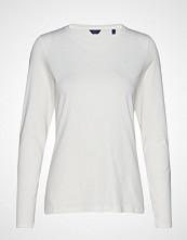 Gant Cott/Ela C-Neck Ls T-Shirt T-shirts & Tops Long-sleeved Hvit GANT