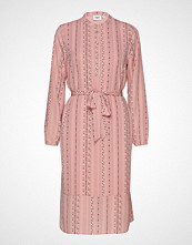 Saint Tropez U6000, Woven Dress Bellow Knee Knelang Kjole Rosa SAINT TROPEZ