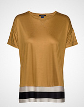Scotch & Soda Cropped Short Sleeve Tee With Rib Bottom Hem Bluse Kortermet Gul SCOTCH & SODA