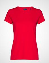 Gant Cott/Ela C-Neck Ss T-Shirt T-shirts & Tops Short-sleeved Rød GANT