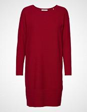 Edc by Esprit Dresses Flat Knitted Knelang Kjole Rød EDC BY ESPRIT