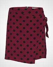 Mango Wrap Print Skirt Kort Skjørt Rød MANGO