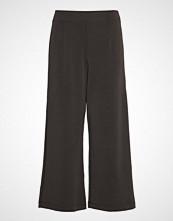 Selected Femme Slftuija Tea Mw Cropped Wide Pants Ex Vide Bukser Svart Selected Femme