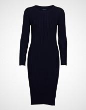 Gant D1. Rib Knitted Dress Knelang Kjole Blå GANT