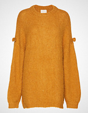 by Ti Mo Hairy Knit Jumper Strikket Genser Gul BY TI MO