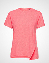 Superdry Knot Burnout Tee T-shirts & Tops Short-sleeved Rosa SUPERDRY