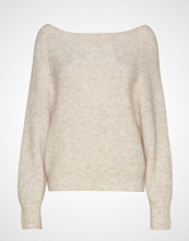 Second Female Galis Knit Off Shoulder Strikket Genser Beige SECOND FEMALE
