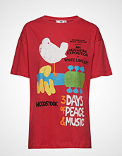 Mango Printed Festival T-Shirt T-shirts & Tops Short-sleeved Rød MANGO