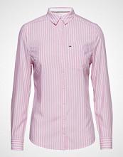 Tommy Jeans Tjw Regular Stripe S Langermet Skjorte Rosa TOMMY JEANS