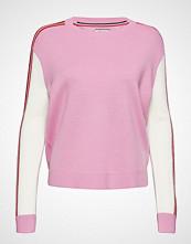 Tommy Jeans Tjw Colorblock Sweater Strikket Genser Rosa TOMMY JEANS