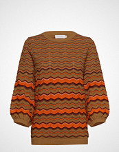 Coster Copenhagen Knit In Multi Color W. Volume Sleev Strikket Genser Brun COSTER COPENHAGEN