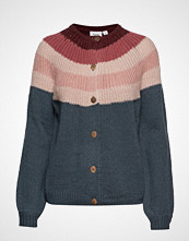 Saint Tropez U2012, Knit Cardigan Long Sleeves Strikkegenser Cardigan Multi/mønstret SAINT TROPEZ