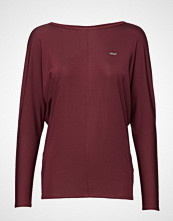 Röhnisch Drape Top T-shirts & Tops Long-sleeved Rød RÖHNISCH