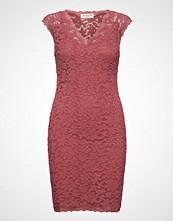 Rosemunde Dress Ss Knelang Kjole Rosa ROSEMUNDE