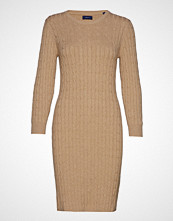 Gant Stretch Cotton Cable Dress Kort Kjole Beige GANT