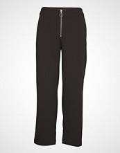 Only Onllisa Wide Fit Pant Wvn Vide Bukser Svart ONLY