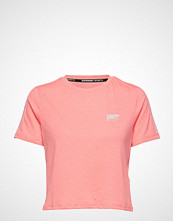 Superdry Sport Core Crop Branded Tee T-shirts & Tops Short-sleeved Rosa SUPERDRY SPORT