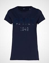 Gant D2. 1949 Logo Ss T-Shirt T-shirts & Tops Short-sleeved Blå GANT