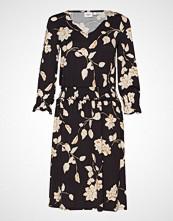 Saint Tropez U6502, Jersey Dress On Knee Knelang Kjole Svart SAINT TROPEZ