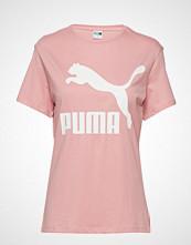 Puma Classics Logo Tee T-shirts & Tops Short-sleeved Rosa PUMA