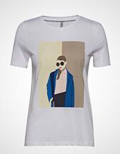 Only Onlzabi Reg S/S Artsy Top Box Co Jrs T-shirts & Tops Short-sleeved Hvit ONLY